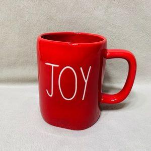 """New Rae Dunn """"JOY"""" Red Christmas Mug"""